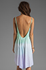 Image 4 of Blue Life Tie Dye V Neck Babydoll Dress in Mint/Ocean Breeze