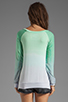 Image 2 of Blue Life Classic Sweatshirt in Mint/Ocean Breeze