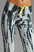 Image 4 of Blue Life Fitted Sweat Pant in Black/White Tie Dye