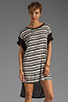 Image 1 of Blue Life Boy T-Shirt Dress in Black/White