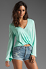 Image 1 of Blue Life Hayley Top in Mint