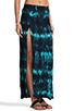 Image 2 of Blu Moon Two Slit Skirt in Turquoise Tie Dye