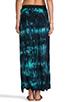 Image 3 of Blu Moon Two Slit Skirt in Turquoise Tie Dye