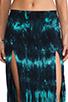Image 4 of Blu Moon Two Slit Skirt in Turquoise Tie Dye