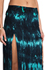Image 5 of Blu Moon Two Slit Skirt in Turquoise Tie Dye