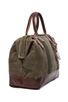 Image 3 of Billykirk No. 165 Medium Carryall in Olive Waxed & Brown