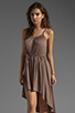 Image 1 of Bobi Supreme Jersey Tie Waist Asymmetric Dress in Java