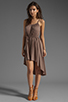 Image 2 of Bobi Supreme Jersey Tie Waist Asymmetric Dress in Java
