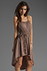 Image 3 of Bobi Supreme Jersey Tie Waist Asymmetric Dress in Java
