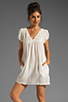 Image 1 of Bobi Gauze Mini Dress in Light
