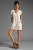 Image 2 of Bobi Gauze Mini Dress in Light