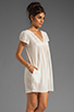 Image 3 of Bobi Gauze Mini Dress in Light
