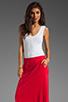 Image 1 of Bobi Colorblock Supreme Jersey Maxi Dress in White/Bali