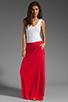 Image 2 of Bobi Colorblock Supreme Jersey Maxi Dress in White/Bali