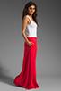 Image 3 of Bobi Colorblock Supreme Jersey Maxi Dress in White/Bali