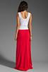 Image 4 of Bobi Colorblock Supreme Jersey Maxi Dress in White/Bali