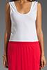 Image 5 of Bobi Colorblock Supreme Jersey Maxi Dress in White/Bali