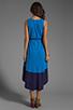 Image 4 of Bobi Colorblock Supreme Jersey Asymmetric Dress in Tropez/Yacht