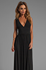 Image 1 of Bobi Jersey Maxi Dress in Black