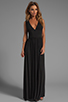 Image 2 of Bobi Jersey Maxi Dress in Black