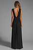 Image 4 of Bobi Jersey Maxi Dress in Black