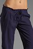 Image 4 of Bobi Linen Drawstring Pant in Yacht