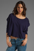 Image 1 of Bobi Lightweight Jersey Long Sleeve Scoop Neck in Yacht