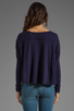 Image 2 of Bobi Lightweight Jersey Long Sleeve Scoop Neck in Yacht