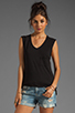 Image 1 of Bobi Slub Pocket Tank in Black