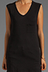 Image 3 of Bobi Slub Pocket Tank in Black