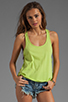 Image 1 of Bobi Lightweight Jersey Criss Cross Side Tank in Margarita