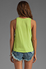Image 3 of Bobi Lightweight Jersey Criss Cross Side Tank in Margarita