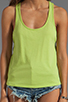 Image 4 of Bobi Lightweight Jersey Criss Cross Side Tank in Margarita