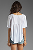 Image 2 of Bobi Lightweight Jersey Flutter Sleeve Top in White