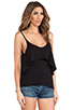 Image 2 of Bobi Light Weight Jersey Layered Tank in Black
