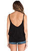 Image 3 of Bobi Light Weight Jersey Layered Tank in Black