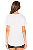 Image 3 of Bobi Light Weight Jersey Pocket V-Neck Tee in White