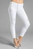 Image 1 of Black Orchid Skinny Ankle Zip in Pure White