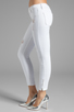 Image 2 of Black Orchid Skinny Ankle Zip in Pure White