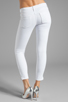 Image 3 of Black Orchid Skinny Ankle Zip in Pure White