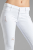 Image 4 of Black Orchid Skinny Ankle Zip in Pure White
