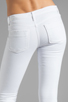 Image 6 of Black Orchid Skinny Ankle Zip in Pure White