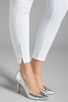 Image 7 of Black Orchid Skinny Ankle Zip in Pure White