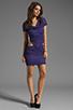 Image 2 of Boulee Blake Short Sleeve Cut Out Dress in Dark Purple