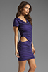 Image 3 of Boulee Blake Short Sleeve Cut Out Dress in Dark Purple