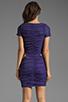 Image 4 of Boulee Blake Short Sleeve Cut Out Dress in Dark Purple