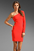 Image 1 of Boulee Allie One Shoulder Cut Out Dress in Hot Coral