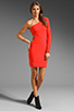 Image 2 of Boulee Allie One Shoulder Cut Out Dress in Hot Coral