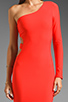 Image 3 of Boulee Allie One Shoulder Cut Out Dress in Hot Coral