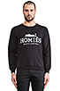 Image 1 of Brian Lichtenberg Homies Sweatshirt in Black/White